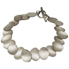 Kayo Saito Silver Chai Petal Collection Bracelet Bangle