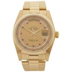 Rolex Day Date 18 Karat Yellow Gold 18038
