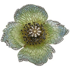 Poppy Head Flower Brooch