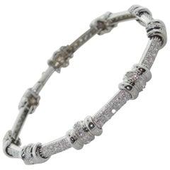 Diamond Tennis Style Bracelet in 14 Karat White Gold
