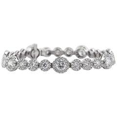 Mark Broumand 7.75 Carat Round Brilliant Cut Diamond Bracelet
