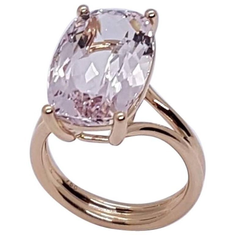 Ring Rose Gold Morganite Wagner Collection