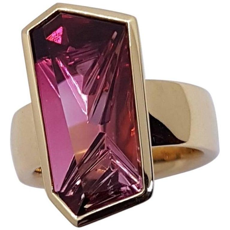Ring Rose Gold Pink Tourmaline Atelier Munsteiner