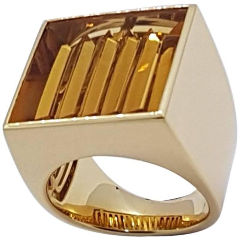 Ring Gold Citrine Atelier Munsteiner