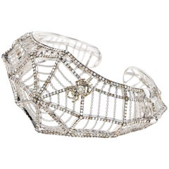 Cobweb 18 Karat White Gold Diamonds Bracelet Cuff