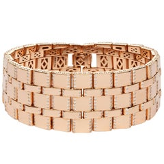 Monica Bonvicini Collection Rose Gold Diamond Bracelet Single