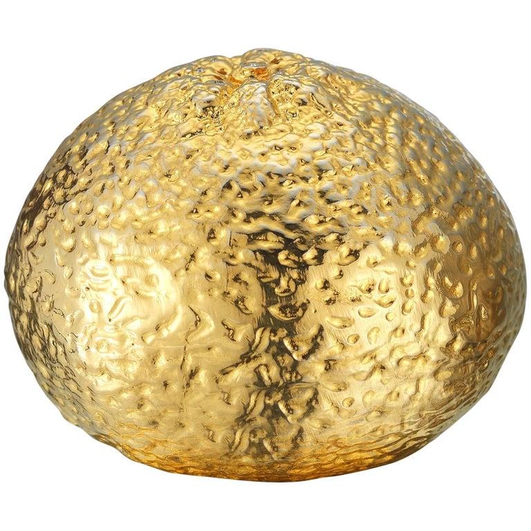 18 Karat Gold Vermeil Tangerine Salt Shaker with Diamonds, 0.11 Carat
