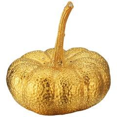 18 Karat Gold Vermeil Pumpkin Salt Shaker with Diamonds, 0.12 Carat
