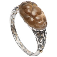 Cloud Sterling Silver with Smoky Quartz and Polki Diamonds Bracelet