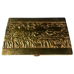 "Line Vautrin ""La Transhumance"" Bronze Box ""The Seasonal Migration"""