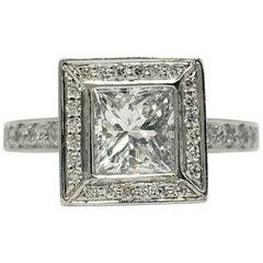Chris Correia Platinum 1 Carat Princess Diamond Ring