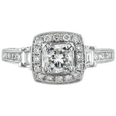 Mark Broumand 1.75 Carat Cushion Cut Diamond Engagement Ring