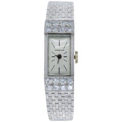 Tiffany & Co. 14 Karat White Gold Diamond Watch