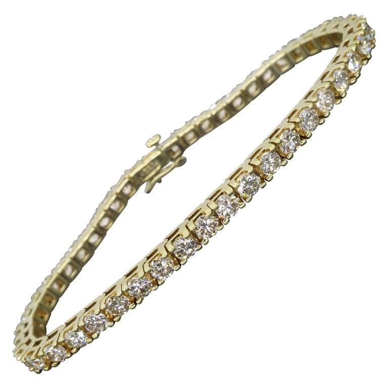 6.00 Carat Diamond Tennis Bracelet For Sale