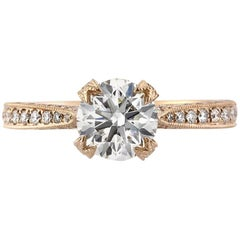 Mark Broumand 1.95 Carat Round Brilliant Cut Diamond Engagement Ring
