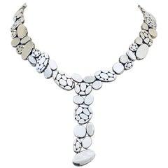Ravishing Reversible Sterling Silver John Hardy Bali Collection Y Necklace