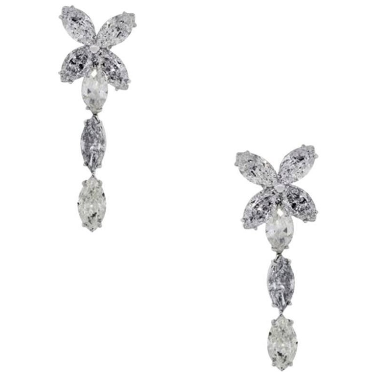 15.94 Carat Diamond Dangle Earrings