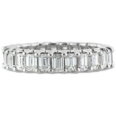 Mark Broumand 3.00 Carat Emerald Cut Diamond Eternity Band