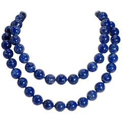 Two Strand Detachable Royal Blue Lapis Lazuli Necklaces