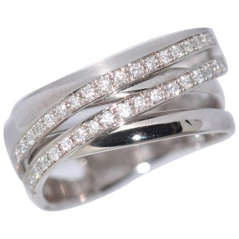 White Diamonds and White Gold 18 Carat Ring