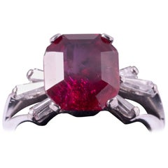 Natural Burma Ruby Ring 4.21 Carat