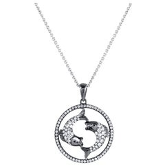 Pisces Zodiac Diamond Pendant Necklace