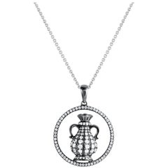 Aquarius Zodiac Diamond Pendant Necklace