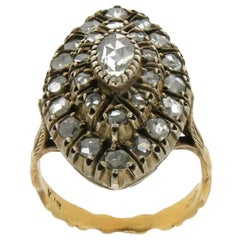 18 Karat Yellow Gold Diamonds Cocktail Ring