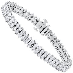 9.19 Carat Diamond Double Line Tennis Bracelet