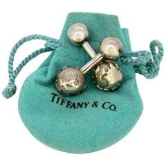 "Tiffany & Co. Sterling Silver ""Earth"" Cufflinks, USA, circa 1990s"