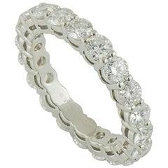 Tiffany & Co. Platinum Diamond Embrace Ring 3.18 Carat