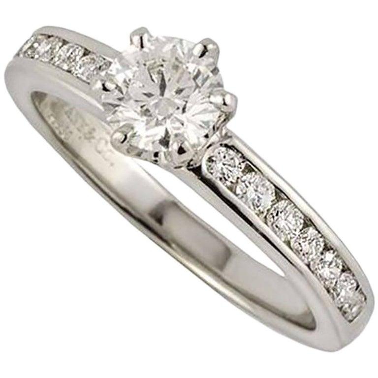Tiffany & Co. The Tiffany Setting with Diamond Band Ring 0.33 Carat