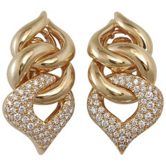 Pave' Diamond Earclip Earrings