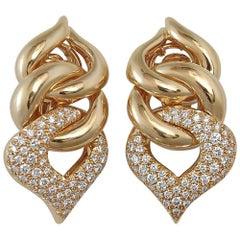 Pave' Diamond Dangle Earrings