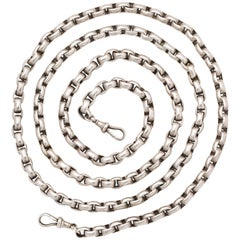 Antique Victorian Sterling Heavy Chain