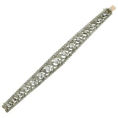 Victorian Choker-Bracelet Combination Convertible 18 Karat Gold and Silver