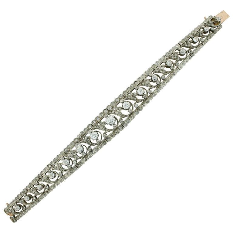 Victorian Choker-Bracelet Combination Convertible 18 Karat Gold and Silver