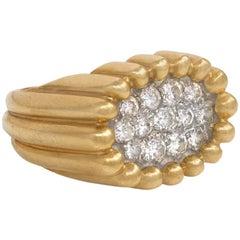 "Midcentury Van Cleef & Arpels ""Tartelette"" Gold and Diamond Ring"