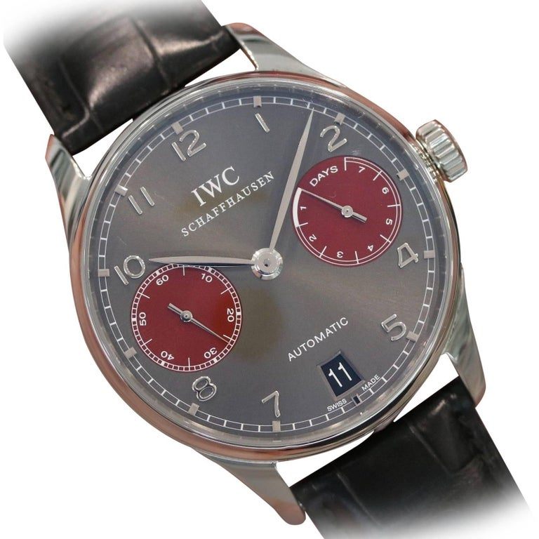 IWC Stainless Steel Portuguese Tribeca Film Festival Automatic Wristwatch