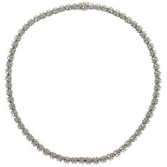 10 Carat of Diamonds Platinum Necklace