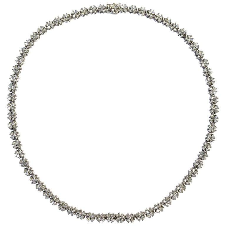 10 Carat of Diamonds Platinum Necklace