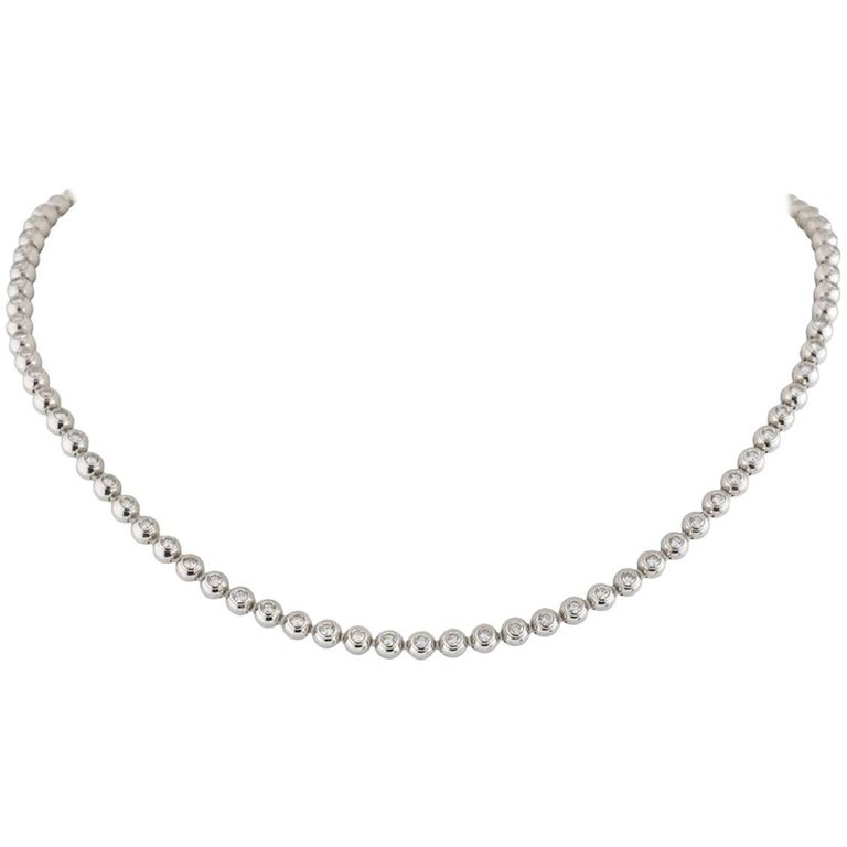 Cartier Diamond Moonlight Necklace 3.36 Carat For Sale