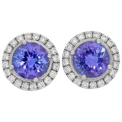 Tiffany & Co. Soleste Tanzanite and Diamond Earrings
