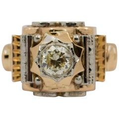 Renaissance 0.77 Carat Diamond Yellow Gold Ring