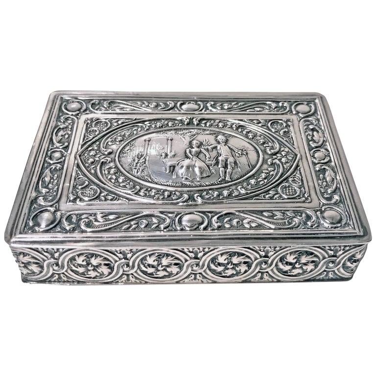 Antique Silver Box Johann Siegmund Kurz