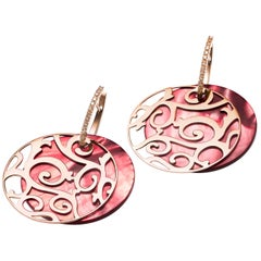 Mattioli Siriana Diamond and Mother-of-Pearl Earrings in 18 karat Rose Gold