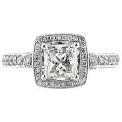Mark Broumand 1.86 Carat Princess Cut Diamond Engagement Ring