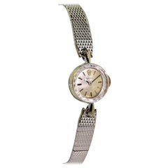 Rolex Ladies White Gold Original Faceted Crystal Manual Watch, circa 1960