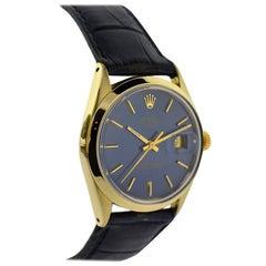 Rolex Gold Shell Original Blue Dial Automatic Wristwatch, circa 1980