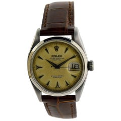 Rolex Stainless Steel Oyster Perpetual Patinated Dial Manual Watch, 1957